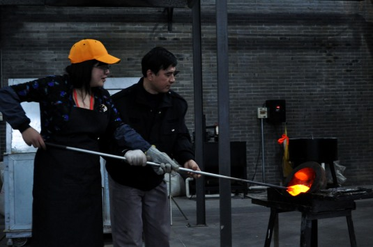 glass blowing shanghai museum of glass DIY cukimber